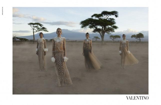 Steve McCurry Valentino Spring 2016 Campaign shot in Amboseli Park in Kenya.
