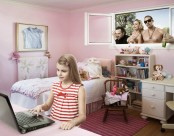 Pink Walls in Girl's Bedroom