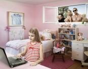 Pink Walls in Girl's Bedroom