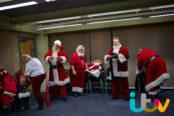 Santas getting undressed