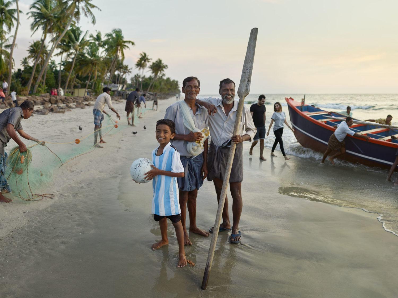 Pescatori in spiaggia
